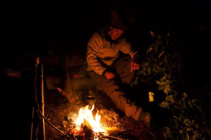 Leave no trace after camp fire is finished