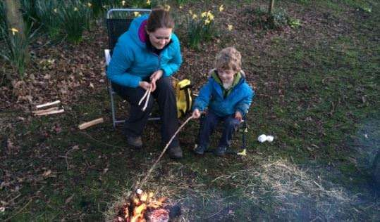 Half-term bushcraft fun