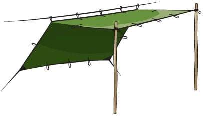 tarp set up from DD Hammock