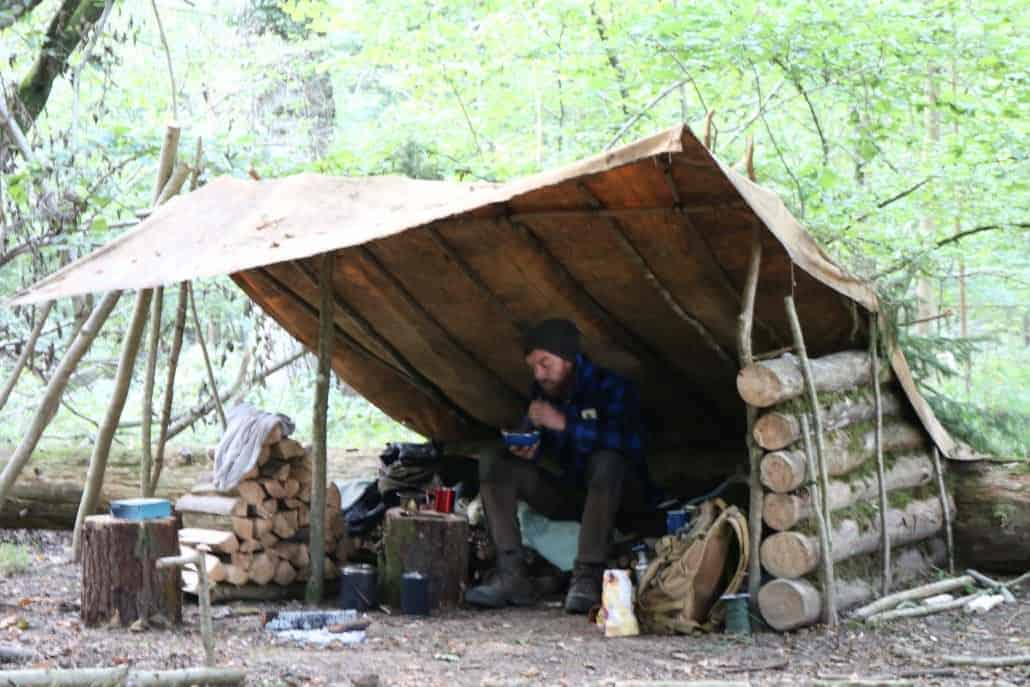 Long-term shelter building intermediate course from Wildway Bushcraft