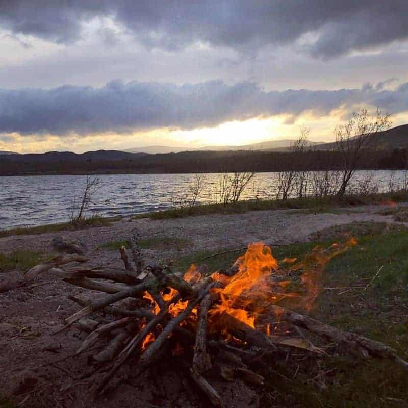 Learn friction fire lighting on our course