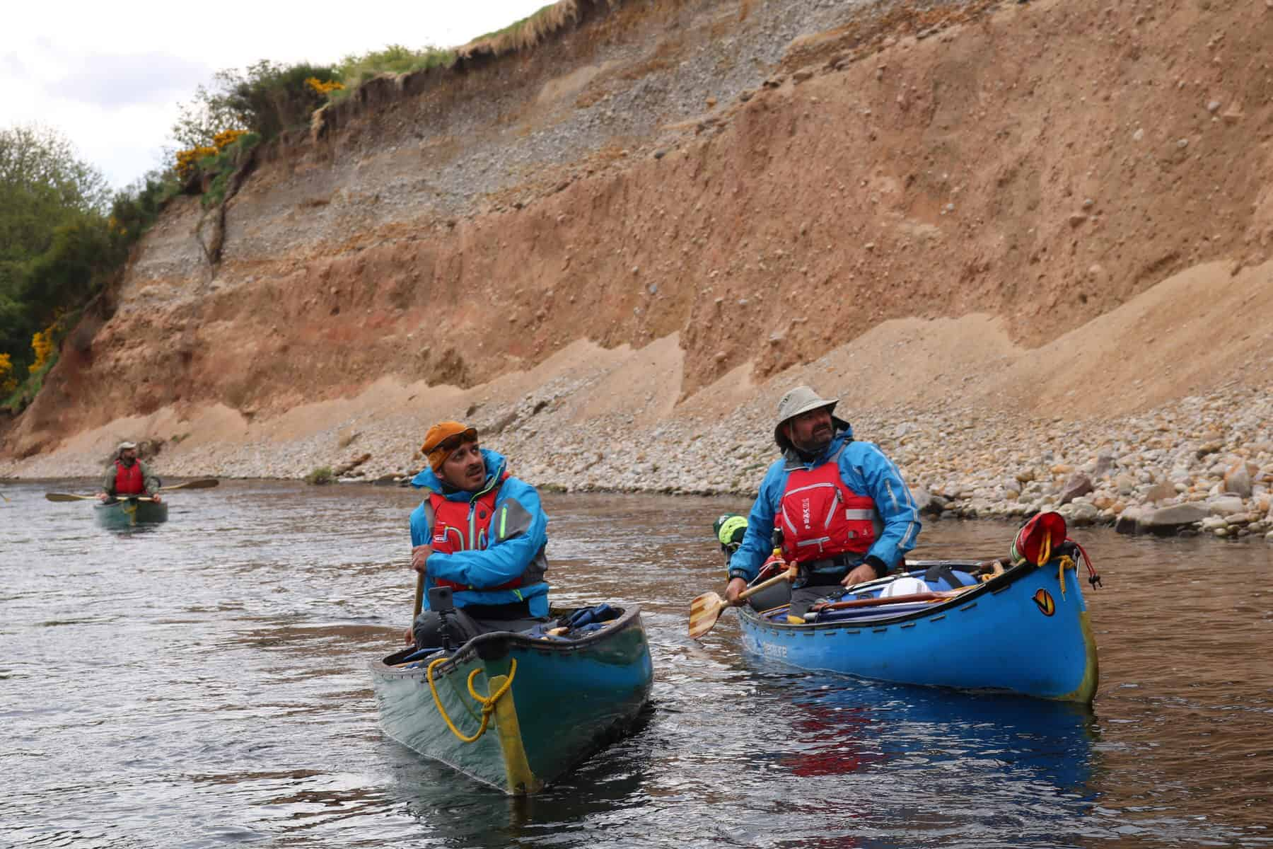 Join wildway bushcraft on the river spey