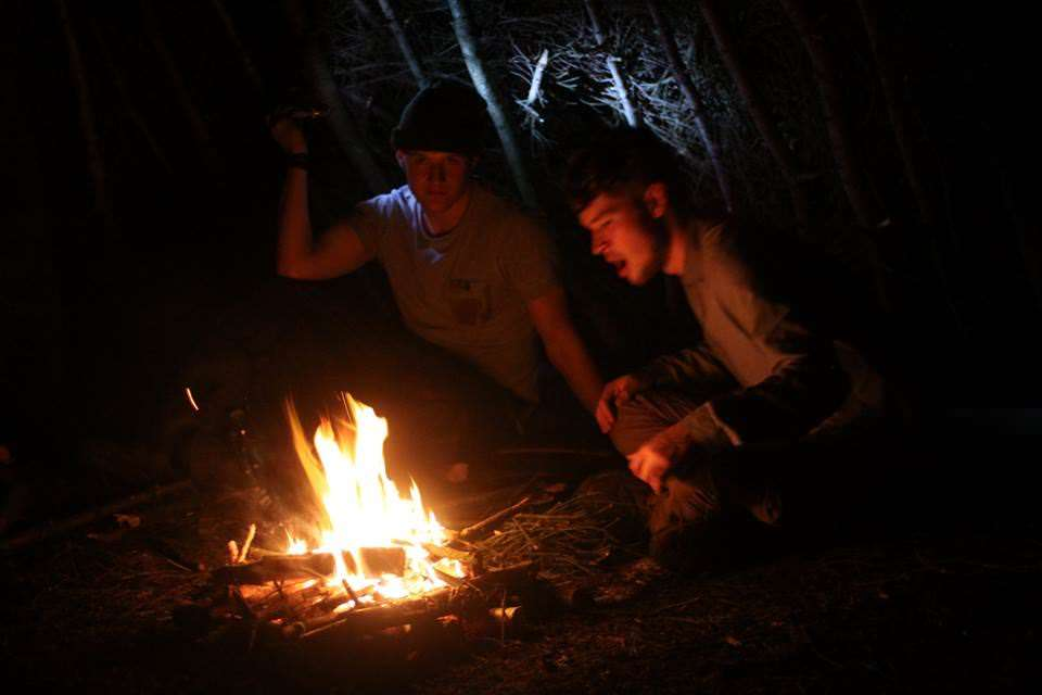 Fire lighting family bushcraft course