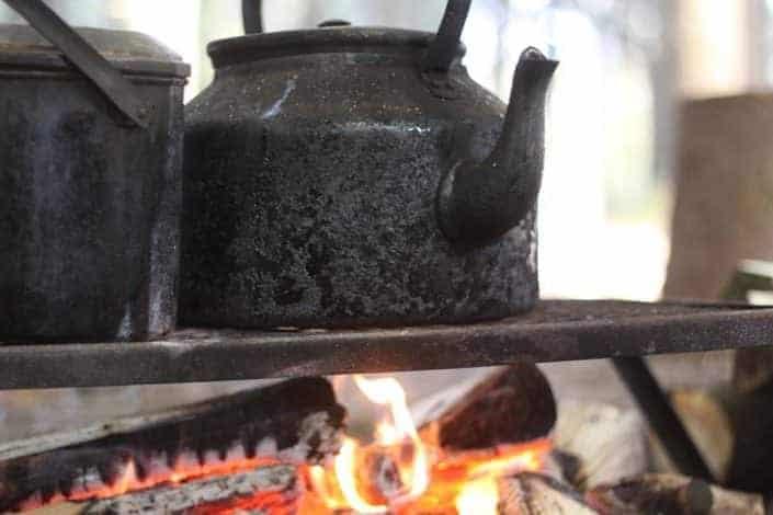 UK Bushcraft campfire cooking from Wildway Bushcraft