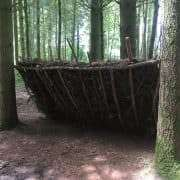 Bushcraft course build your own shelter