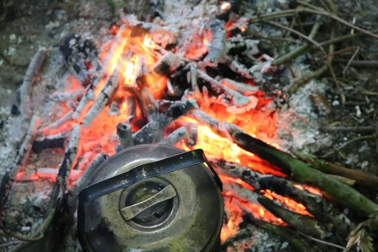 Friction fire lighting from WIldway Bushcraft