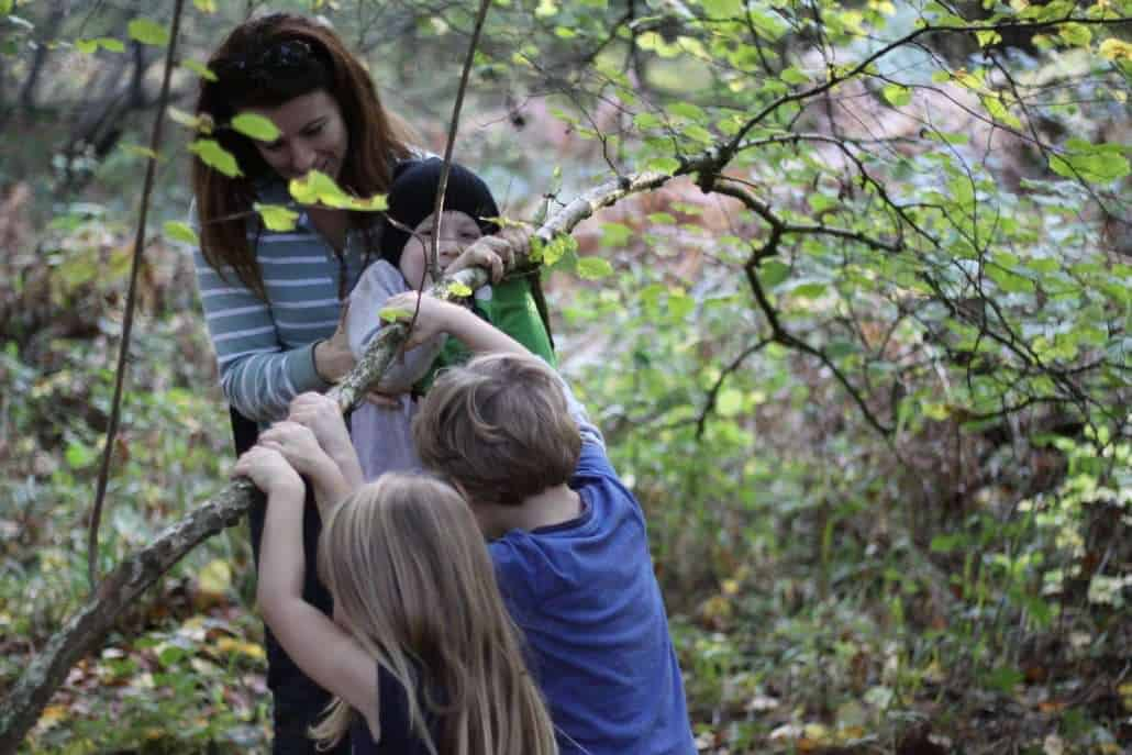 family bushcraft course from Wildway Bushcraft course