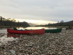 Canoe the river Spey bivvy on its banks on our bushcraft course