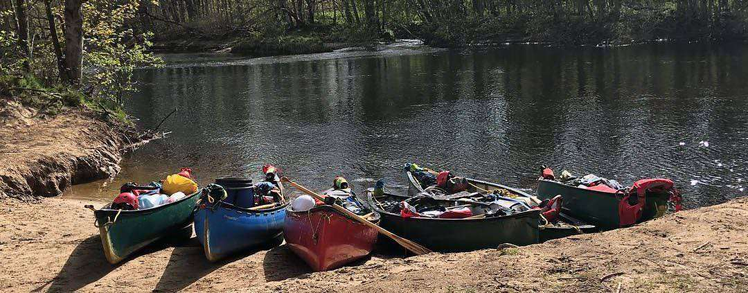 canoeing and bushcraft on the river spey scotland