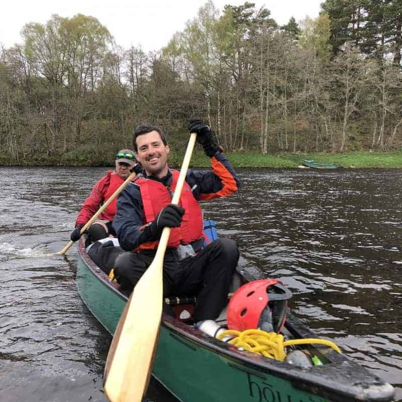 Canoeing on the Spey