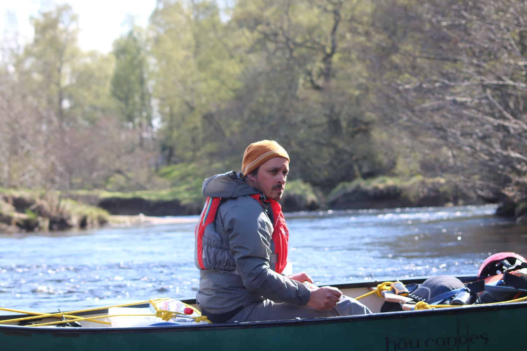 Canoe under the spey